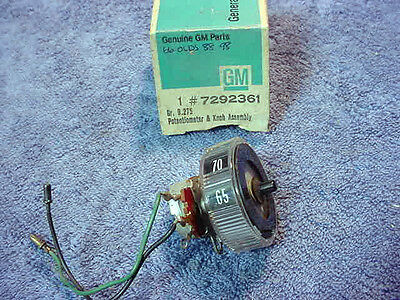 CONTROL Potentiometer Temp NEW GM NOS 7292361 Oldsmobile 88 98 Starfire 1966 D5