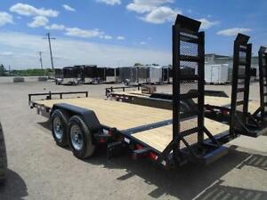Equipment 7 ton trailer - 7 x 18 - ready for pickup - BUILT HD London Ontario image 3