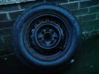 Vauxhall corsa wheel and tire 155/80/13, £10 - contact 07763119188