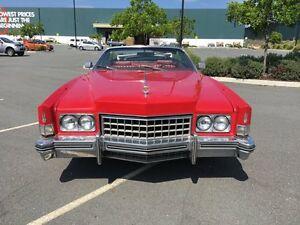 1973 Cadillac Eldorado Red Automatic Convertible