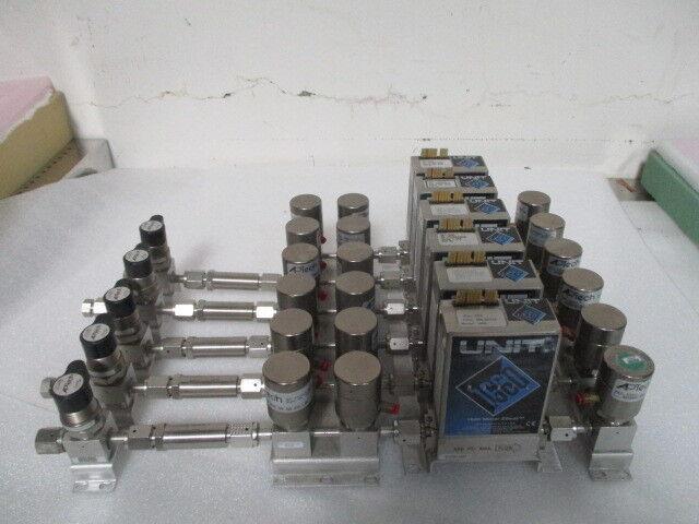 LAM Gas Manifold Assembly, (6) UNIT UFC-1660, 18 Valve, 5 Isolation Valve.422949