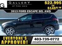 2013 Ford Escape SEL AWD $149 Bi-Weekly APPLY NOW DRIVE NOW