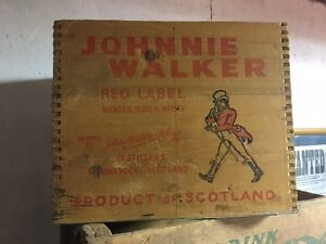 Johnnie Walker Red Label Old Scotch Whisky wooden grate