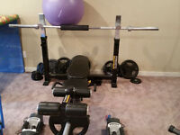 Power Tec Bench with weights / bar