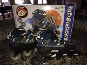 Brand New Quality Mongoose Brand Roller Blades (Adult Sz. 10)