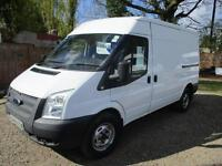 2013 Ford Transit 2.2TDCi 60,000 MILES NO VAT 6 SPEED 350M Med Roof 350 MWB
