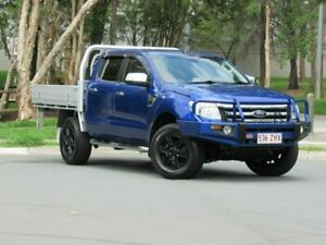 2012 Ford Ranger PX XLT Double Cab Blue 6 Speed Sports Automatic Utility Slacks Creek Logan Area Preview