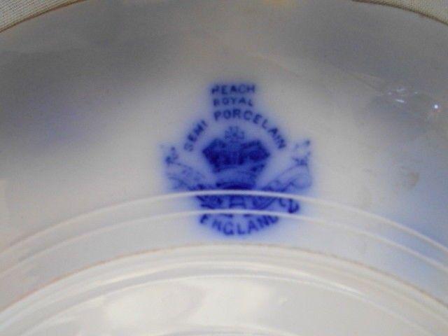 SALE Vintage Johnson Brothers Peach Royal Flow Blue Large Platter RARE