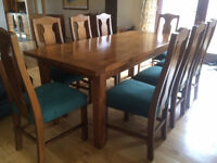 8 Seater dinning table & chairs