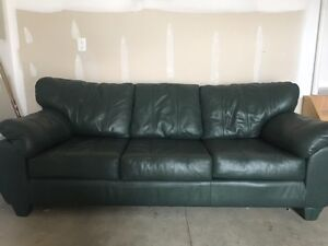 Green Leather Couch For Sale London Ontario image 2