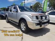 2007 Nissan Navara D40 Series 6 ST-X Cab Chassis King Cab 4dr Man 6sp 4x4 2.5DT Silver Manual Springwood Logan Area Preview
