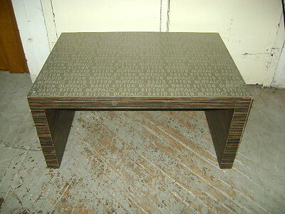 David Bitton Buffalo Brown Grey Retail Display Chunky Low Table