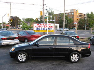 **2003 Honda Civic**  Auto & A/C, Certified & E-tested