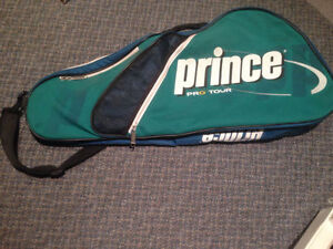 Prince Tennis Bag can hold 2-4 rackets, very clean!