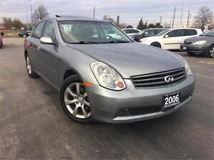 2006 INFINITI G35 Sdn Luxury, Accident Free,One owner, Certified