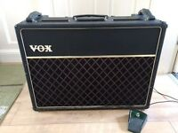 Vintage Vox AC30 Late 1970's - **Pro Re-valve & Full Service!** - Rare Blue Vox Speakers