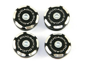 DUCABIKE 1199 Panigale Frame Plugs - Black - New