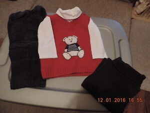 Boy's Size 6-12 months Marc & Maddie Pants, Vest & Turtleneck