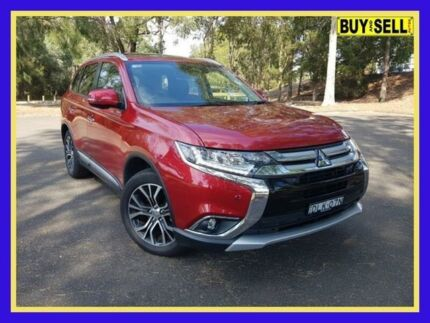 2016 Mitsubishi Outlander ZK Exceed Red Constant Variable Wagon