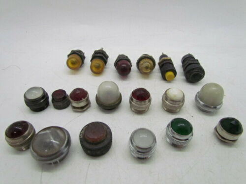 Lot of 6 Panel Mount Indicator Lights And 13 Caps