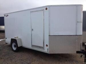 2016 CJay 6x12 Enclosed Trailer (White) - 3474