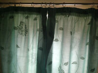 """Aquamarine curtains 118cm (46.5"""") Width and drop. Two pairs + tie backs. £10 each. B15 or B7."""