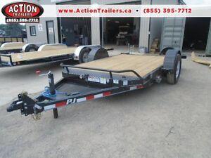 PJ Cushion tilt deck 7 x 13' w/7000lb GVWR -HD Equipment trailer London Ontario image 1