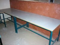 3 large office or workshop tables