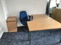 Office desks with Pedestals and Chairs all in very good condition £30.00 per set