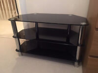 Black Glass TV Stand - for up to 40inch TVs