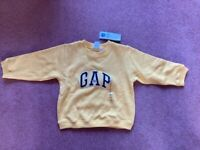 Reduced - Yellow Baby Gap Sweatshirt - brand new with labels - age 2 years