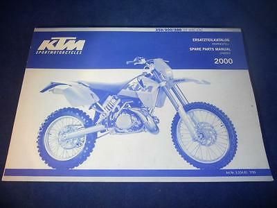KTM Spare Parts Manual Chassis 2000 250 300 380 SX MXC