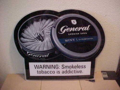 General Swedish Snus Chew Snuff LED Illuminated Lit Mancave Advertising Sign New