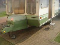 very old caravan