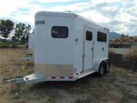 2015 2 Horse VP Straight Haul Bumper Pull w. Ramp & Extra Height