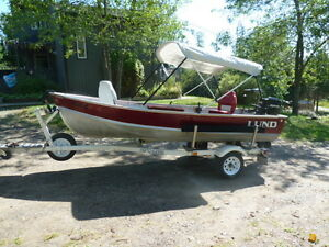Lund 14' with 25hp MERCURY and Northwood Trailer