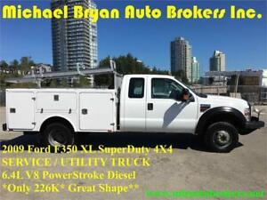 2009 FORD F350 SERVICE / UTILITY TRUCK *4X4* DIESEL* GREAT PRICE
