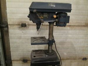 "Mastercraft 8"" drill press and stand."