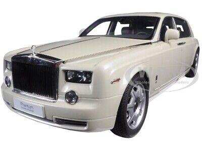 ROLLS ROYCE PHANTOM EXTENDED WHEELBASE CARRERA WHITE 1/18 CAR BY KYOSHO 08841 CW