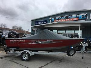 2017 Crestliner 1650 Super Hawk, 90 Merc, loaded, $39,999.00