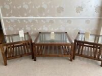 SOLD Laura Ashley Henley coffee table and 2 side tables.
