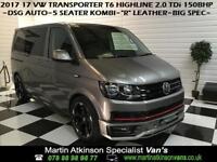 2017 17 Volkswagen VW Transporter T6 2.0 TDi 150BHP Kombi Highline DSG SWB