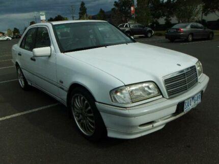 1998 Mercedes-Benz C180 W202 Classic White 5 Speed Automatic Sedan Maidstone Maribyrnong Area Preview