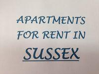 1-2-3 Bedroom Apartments in Sussex