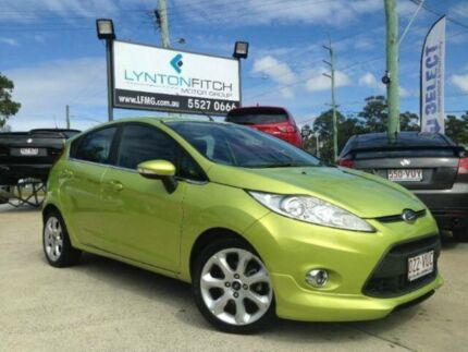 2010 Ford Fiesta WS Zetec Green 5 SPEED Manual Hatchback Southport Gold Coast City Preview