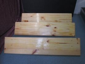 1 ( one ) shelf for sale . Size : H=17.5cm , W=90cm , D=20cm .