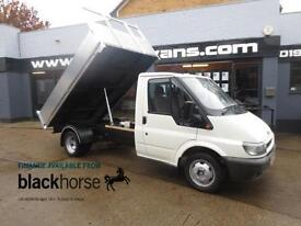 2006 Ford Transit T350 2.4TDCi New Alloy Back Tipper Diesel white Manual