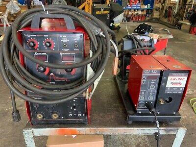 Lincoln Invertec Stt Ii Mig Welder W Ln-742 Wire Feeder