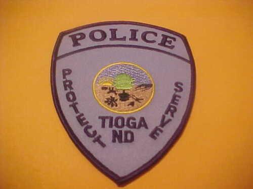 TIOGA NORTH DAKOTA POLICE PATCH SHOULDER SIZE UNUSED