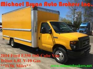 2014 FORD E350 16FT BOX TRUCK / CUBE VAN W/RAMP *GREAT PRICE*